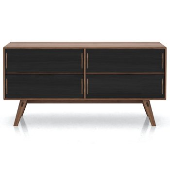 Shown in Walnut finish, front view
