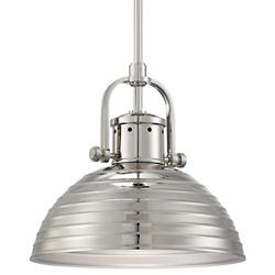 Dome Pendant No. 2247 (Polished Nickel) - OPEN BOX