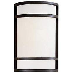 Bay View Outdoor Wall Sconce (Opal/Bronze) - OPEN BOX RETURN