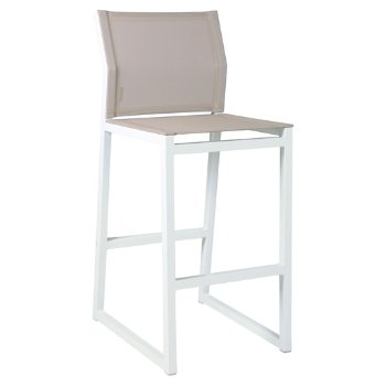 Shown in Canatex Hemp with White finish, Bar