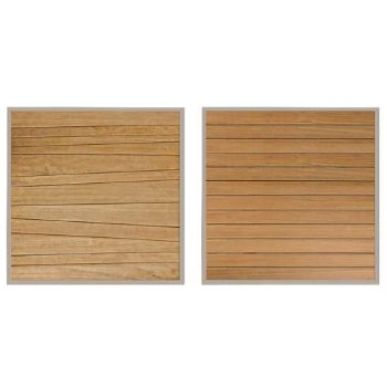 Shown in Abstract Slats (left), Straight Slats (right)