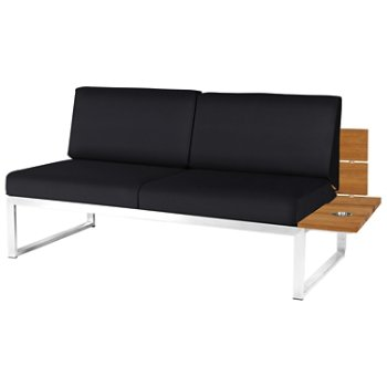 Shown in Black Febric color, Stainless Steel Base finish, Left/Seat's Left Arm Option
