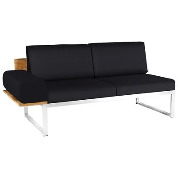 Shown in Black Febric color, Stainless Steel Base finish, Right/Seat's Right Arm Option