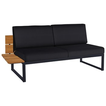 Shown in Black Febric color, Black Base finish, Right/Seat's Right Arm Option