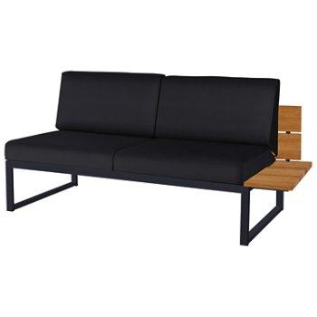 Shown in Black Febric color, Black Base finish, Left/Seat's Left Arm Option