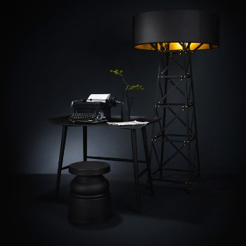 New Antiques Container Stool with Construction Lamp and Woood Desk