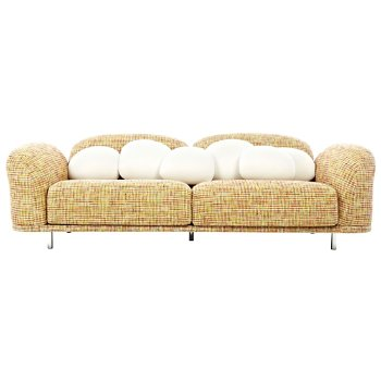 Shown in Boucle Rainbow (Cloud Accent Pillows sold separately)