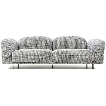 Shown in Boucle Black/White
