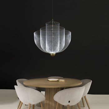 Meshmatics Chandelier, in use