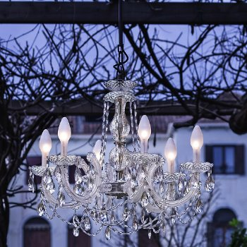 Drylight Small LED Outdoor Chandelier
