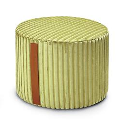Coomba Green Cylinder Pouf