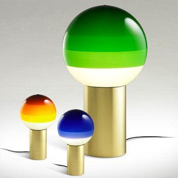 Shown in Green Medium size with Blue and Amber, Small size