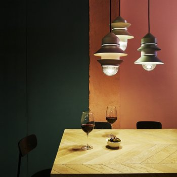 Santorini Indoor Pendant collection, in use