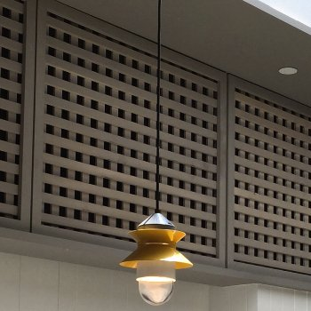 Shown in Mustard finish, lit