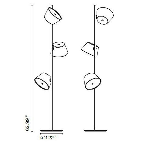 Tam Tam Multi-Colored 3-Light Floor Lamp