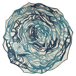 Hibiscus Rug (Turquoise/6 Ft Round) - OPEN BOX RETURN