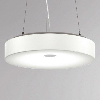 White Belt LED Drum Pendant
