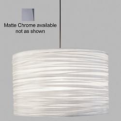 Silence Drum Pendant (Silver/Matte Chrome/18 Inch/LED) - OPEN BOX RETURN