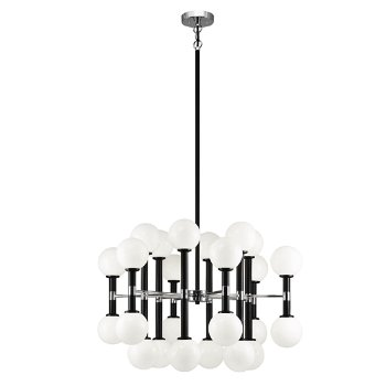 Shown in Opal Glass Shade color, Black finish, Large size