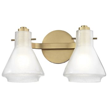 Shown in Aged Brass finish, 2-Light