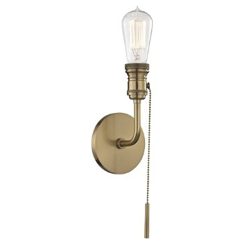 Shown in Aged Brass finish, 1 Light