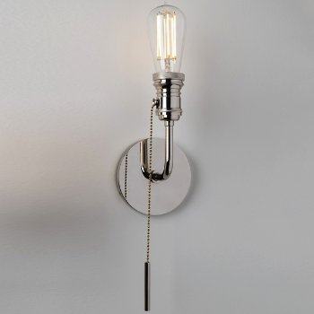 Shown in Polished Nickel finish, 1 Light