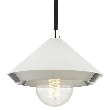 Shown in White finish with Polished Nickel, 4.75-Inch