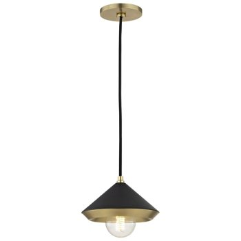 Shown in Black finish Aged Brass with , 4.75-Inch