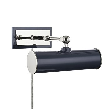 Shown in Polished Nickel/Navy finish, 8.25-In. Width