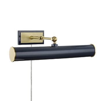 Shown in Aged Brass/Navy finish, 16.25-In. Width