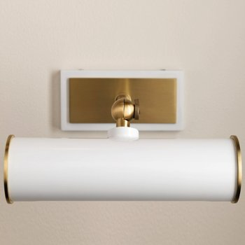 Shown in Aged Brass/White finish, 8.25-In. Width