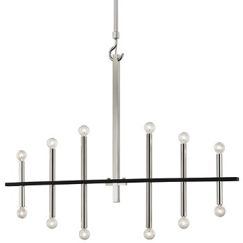 Shown in Polished Nickel/Black finish