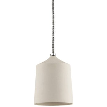 Shown in Matte White shade, Polished Nickel finish