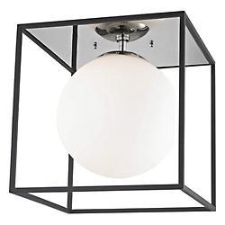 Aira Flush Mount Ceiling Light (Polished Nickel/L)-OPEN BOX