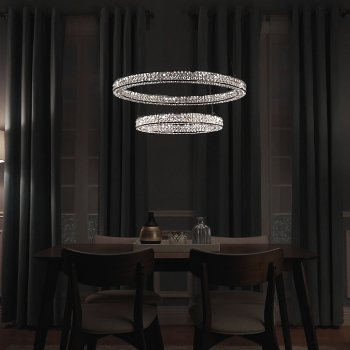 Eternity LED 2 Tier Pendant, in use
