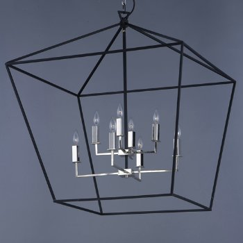 Abode 2-Tier Chandelier, in use