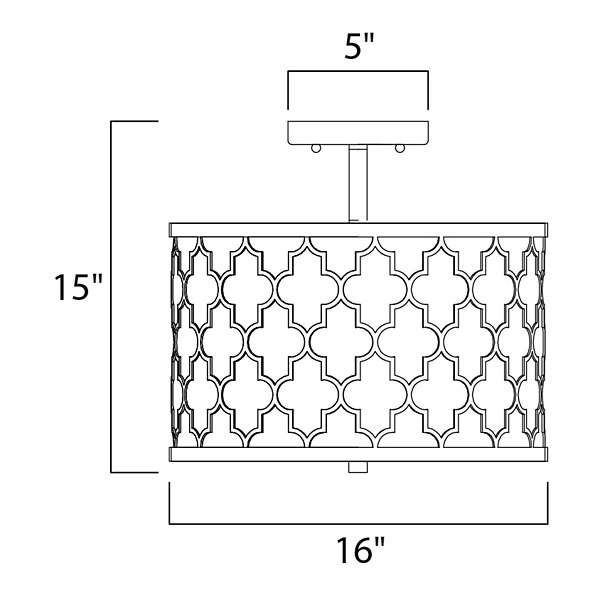 Crest Semi-Flushmount / Pendant