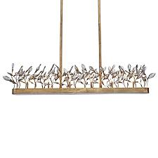 Crystal Garden Linear Chandelier Light