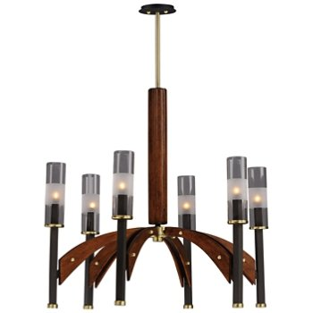 Shown in Bronze and Antique Pecan finish, 6 light