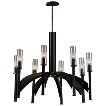Shown in Black and Wenge finish, 8 Light