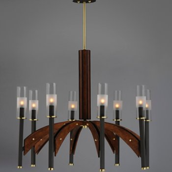 shown in Bronze and Antique Pecan, 8 Light