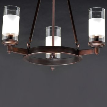Shown in Oil Rubbed Bronze finish, 12 Light, Detail view