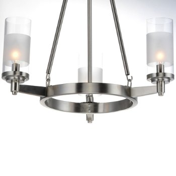Shown in Satin Nickel finish, 3 Light, Detail view