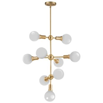Shown in White with Satin Brass finish