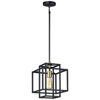 Shown in Black and Satin Brass finish, Small size