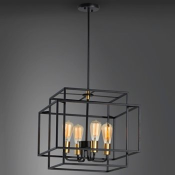 Shown in Black and Satin Brass finish, Medium size, in use