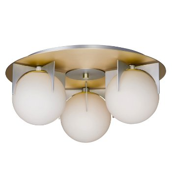 Shown in Satin Brass and Brushed Platinum finish