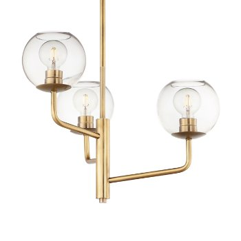 Shown in Natural Aged Brass finish with 3 Light