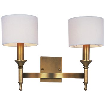 Shown in Natural Aged Brass finish, lit