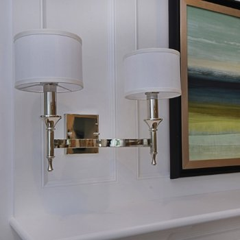 Shown in Polished Nickel finish, In use, unlit